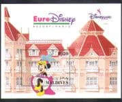 Maldives 1992 Euro Disney/ Cartoons/ Animation/ Minnie/ Dance/ Building  1v m/s (d00257)