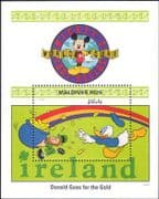 Maldives 1992 Walt Disney/ Mickey Mouse/ Donald/ Leprechaun/ Cartoons/ Animation 1v m/s (b1605p)