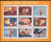 Maldives 1993 Disney  /  Peter & Wolf  /  Film  /  Cartoon  /  Animation  /  Animals 9v sht (s6149a)