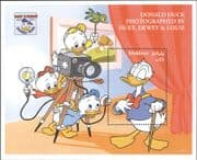 Maldives 1994 Disney/ Donald Duck 60th/ Portrait/ Camera/ Animation/ Cartoons 1v m/s b413g