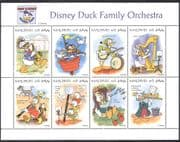 Maldives 1995  Disney/ Donald Duck/ Orchestra/ Music/I nstruments/ Cartoons  8v sht (b2229a)