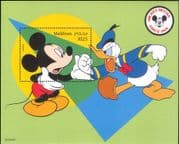 Maldives 1999 Disney/ Mickey Mouse 70th/ Donaldb Duck/ Cartoons/ Animation 1v m/s (ad1002)