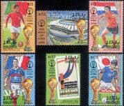 Maldives 2001 Football World Cup Championships/ WC/ Sports/ Games/ Soccer/ Players 6v set (s1635h)