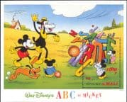 Mali 1996 Disney/ Mickey Mouse/ ABC/ Alphabet/ Cartoons/ Animation 1v m/s (ad1070)