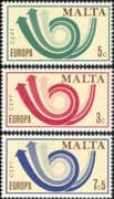 Malta 1973 Europa/ CEPT/ Communication/ Posthorn/ Arrows/ Animation 3v set (ex1057)