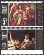 Malta 1975 Europa/ Art/ Paintings/ Artists/ du Mura/ Boulogne 2v set (n43083)