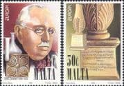 Malta 1994  Europa/ Discoveries/ Brucella/ Medical/ Science/ Writing  2v set (n20617)