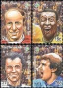 Malta 2006 Football/ Pele/ Charlton/ Zoff/ Beckenbauer/ Soccer/ Sports/ People  4v set  (n16823)