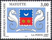 Mayotte 1997 Coat-of-Arms/ Seahorses/ Marine/ Animals/ Nature/Animation 1v (n42715)