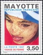 Mayotte 1997 Woman's Face/ People/ Art/ Animation 1v (n42714)