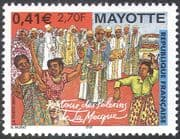 Mayotte 2001 Pilgrims/ Religion/ Dancing/ Ceremony/ Costume/ Clothes/ People 1v (n42800)