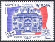 Mayotte 2007 Court of Auditors 200th Anniversary/ Building/ Flag/ Scales 1v (n42716)