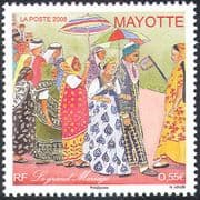 Mayotte 2008 Wedding Ceremony/ Costumes/ Clothes/ Textiles/ Design 1v (n42704)