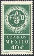Mexico 1966 FAO/ FFH/ Freedom From Hunger/ Wheat/ Rice/ Food/ Crops/ Farming 1v (n42025)