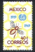 Mexico 1969 Bee/ Insects/ I LO 50th/ Workers/ Honeycomb/ Animation/ Bees/ Insects 1v (n24972)