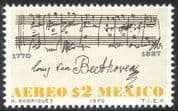 Mexico 1970 Ludwig von Beethoven/ Composers/ People/ Music/ Musicians/ Musical Score 1v (n42891)