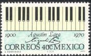 Mexico 1971 Augustin Lara/ Music/ Musicians/ Composers/ Piano Keyboard 1v (n42889)