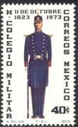 Mexico 1973 Military College 150th  Anniversary/ Soldier/ Uniform/ Rifle/ Weapon 1v (n42922)