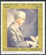Mexico 1974 Manuel Ponce/ Composer/ Music/ Musicians/ People/ Piano/ Musical Instruments 1v (n42893)