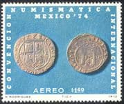 Mexico 1974 Numismatic Exhibition/ Money/ Coins/ Currency/ Commerce 1v (n42916)