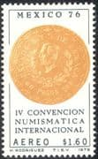 Mexico 1976 Fourth Numismatic Exhibition/ Money/ Coins/ Currency/ Commerce 1v (n42914)