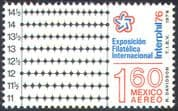 Mexico 1976 Interphil '76/ Perforation Gauge/ Stamp Exhibition/ StampEx 1v (n42029)