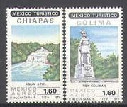 Mexico 1979 Waterfall  /  Statue  /  Tourism  /  River 2v (n25254)