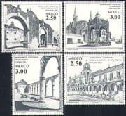 Mexico 1980 Buildings  /  Colonial Architecture  /  Convent  /  Hermitage 4v set (n34078)