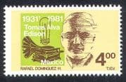 Mexico 1981 Edison  /  Inventors  /  Inventions  /  Gramophone  /  Music  /  People 1v (n39934)