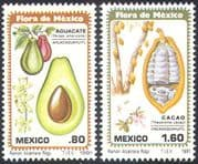Mexico 1981 Flowers/ Fruit/ Plants/ Flora/ Cocoa/ Avocado/ Food/ Nature 2v set (n24969)