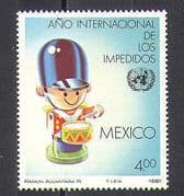 Mexico 1981 IY Disabled/ Health/ Welfare/ Broken Toy Soldier/ Drum 1v (n25820)