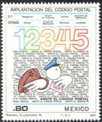 Mexico 1981 Postcodes/ Pigeon/ Letters/ Post/ Mail/ Animation/ Birds 1v (n42905)