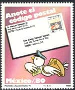 Mexico 1982 Postcodes/ Carrier Pigeon/ Letters/ Post/ Mail/ Birds/ Animation 1v (n42909)