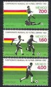 Mexico 1982 Sports  /  Football  /  World Cup  /  WC  /  Soccer  /  Games 3v set (n39666)