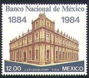 Mexico 1984 Bank  /  Money  /  Commerce  /  Business  /  Buildings  /  Architecture 1v (n34076)