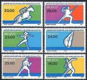 Mexico 1984 Olympic Games  /  Sports  /  Olympics  /  Horses  /  Fencing  /  Boxing 6v set (n34242)