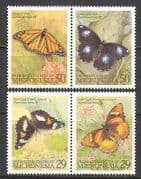 Micronesia 1993 Butterflies  /  Insects  /  Nature 4v set s1699