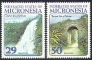 Micronesia 1993 Waterfall  /  Well  /  Water  /  Falls  /  Buildings  /  Tourism 2v set ref:s1649