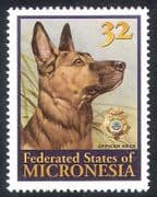 Micronesia 1996 Police Dog Reza  /  Dogs  /  Working Animals  /  Nature  /  Law  /  Order 1v (s926)