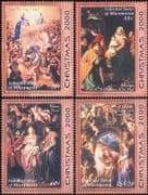 Micronesia 2000 Christmas/ Greetings/ Madonna/ Child/ Paintings/ Art 4v set (s1704a)