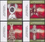 Micronesia 2009  Christmas/ Greetings/ Tree Decorations/ Cross/ Star/ Angel  4v set (n46353)