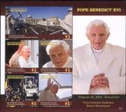Micronesia 2015  Pope Benedict/ Religion/ People/ Church/ Papal  4v sht m/s  (n40206d)