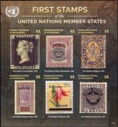 Micronesia 2015  Stamp-on-Stamp/ S-on-S/ Camel/ Flower/ Coat-of-Arms/ UN/ UNO  6v m/s  (n45354d)