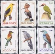 Moldova 1992 Woodpecker/ Cuckoo/ Hoopoe/ Swift/ Oriole/ Birds/ Nature/ Wildlife 6v set (n37838a)