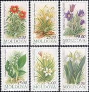 Moldova 1993 Snowdrops/ Peony/ Pasque Flower/ Tulip/ Flowers/ Plants/ Nature 6v set (n33989a)
