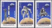 Moldova 1994  Europa/ Inventions/ Space/ Rocket/ Space Walk/ Moon Landing  3v set (s780b)