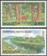 Moldova 1999 Europa/ National Parks/ Deer/Stork/ River/ Birds/ Animals/ Forest/ Nature 2v set b3031h