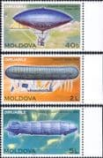 Moldova 2003 Airships/ Balloons/ Dirigibles/ Graf Zeppelin/ Aircraft/ Aviation 3v set (md1015)