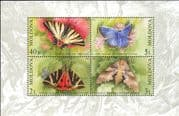 Moldova 2003  Butterflies/ Moths/ Insects/ Nature/ Conservation  4v m/s (md1038)