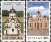 Moldova 2005  Churches/ Architecture/ Religious Buildings/ Religion/ Heritage 2v set (md1010)